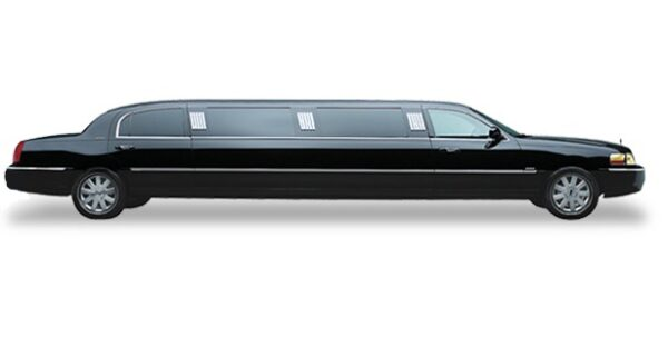 Black Lincoln Town Car Full Stretched Limo 1