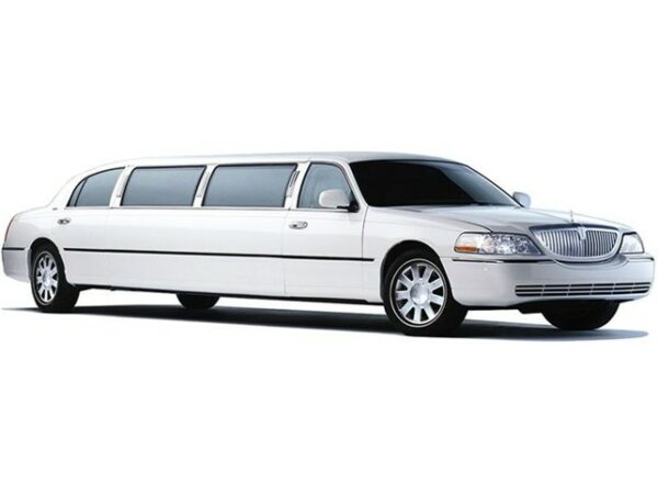 White Lincoln Town Car Full Stretched Limo 2 1